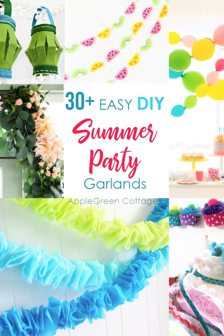 30+ diy Party Decorations - Garlands - AppleGreen Cottage