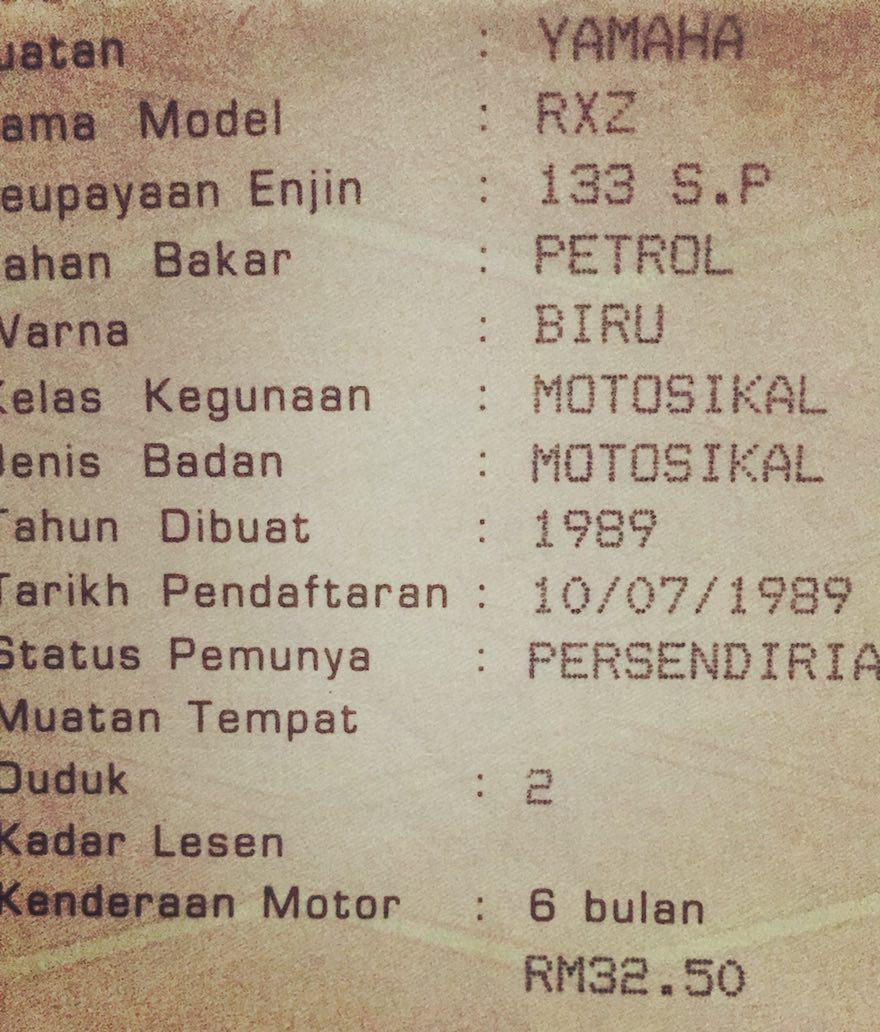 Roadtax Motor Mati Lebih Setahun Insurans Malaysia Blog