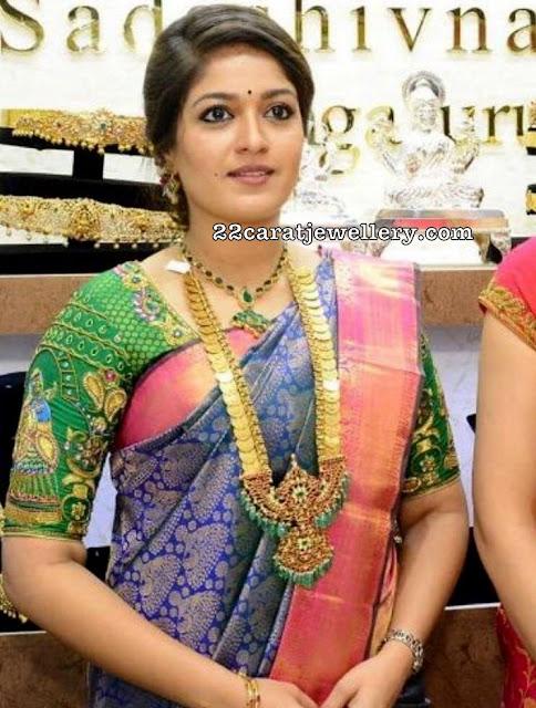 Kasu Mala with Big Kundan Pendant
