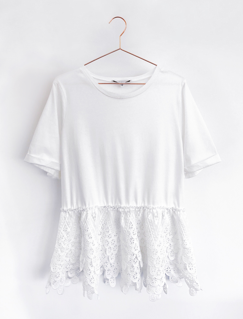 Shopbop Endless Rose Lace Tee White