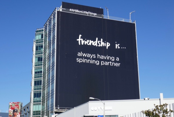 Friendship is spinning partner Million Little Things billboard