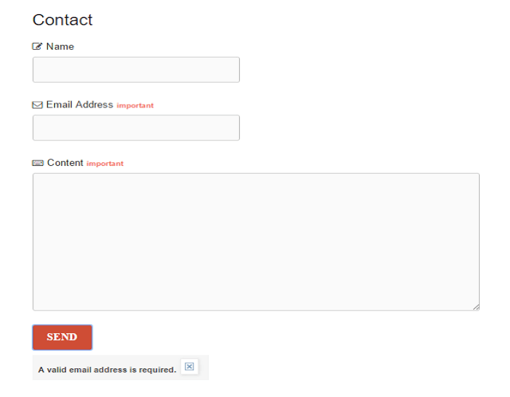 Third contact form