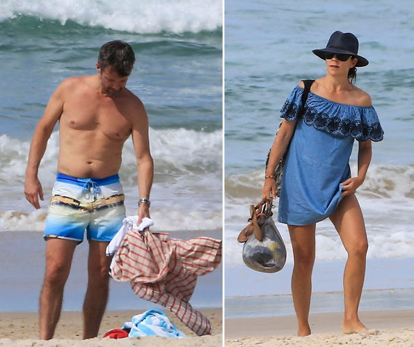 The Danish Crown Prince Royal Family At The Beach In Byron Bay