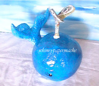How to Make a Big Blue Paper Mache Whale