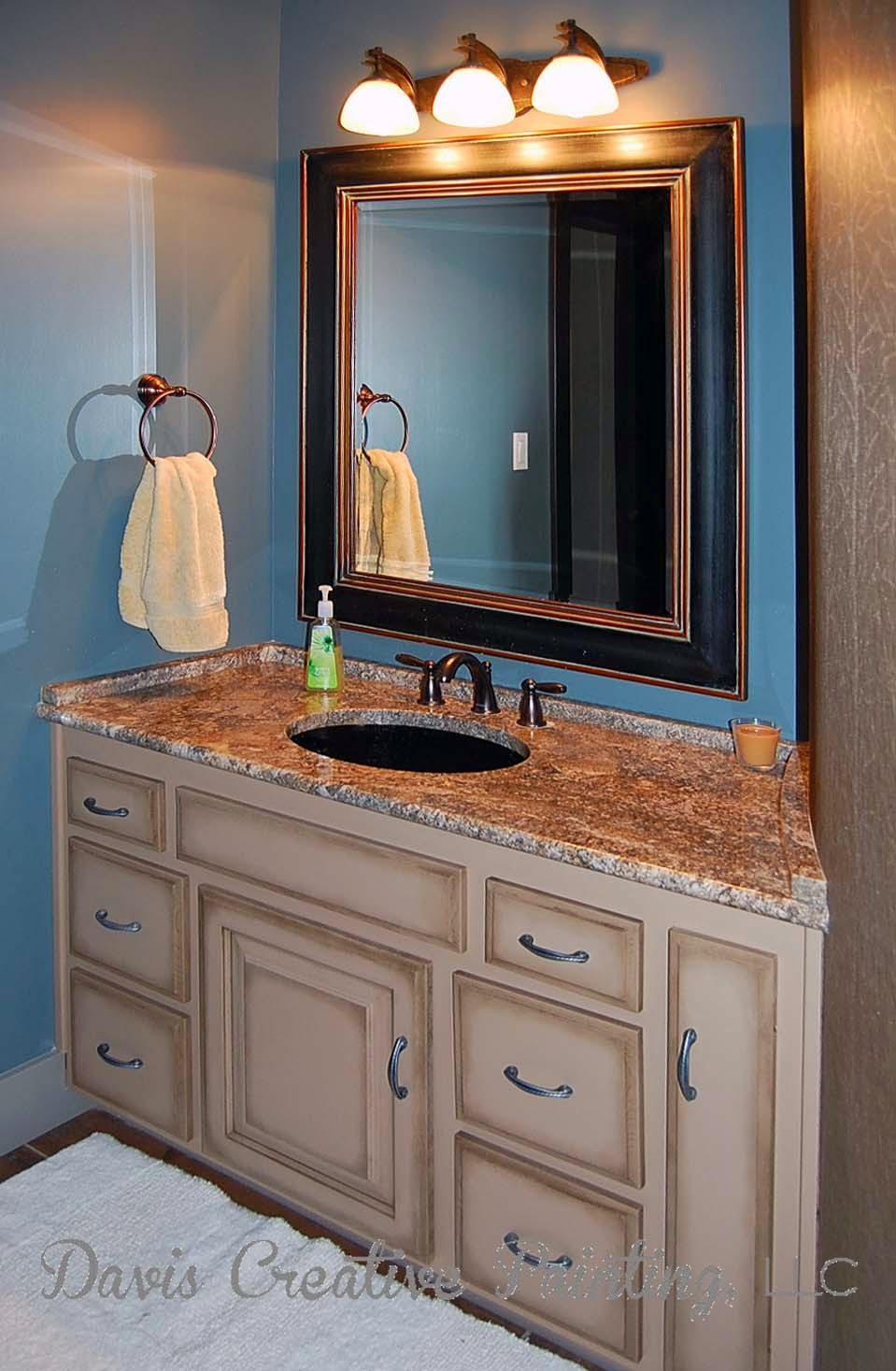 Davis Creative Painting: Painted Oak Bathroom Vanity