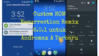 Custom ROM Resurrection Remix 6.0.1 untuk Andromax A