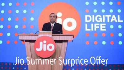 Reliance Jio Summer Surprice Offer With Its Many Benefits