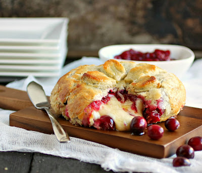 Baked Brie with Rum Cranberry Compote