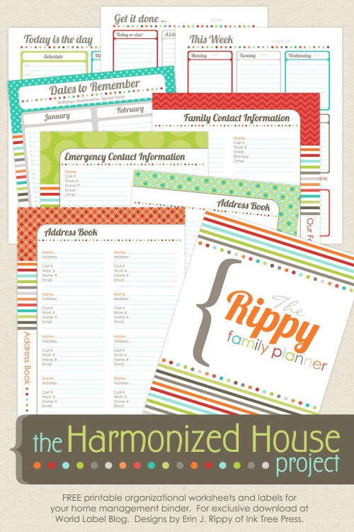 15 Free Printables to Organize Everything