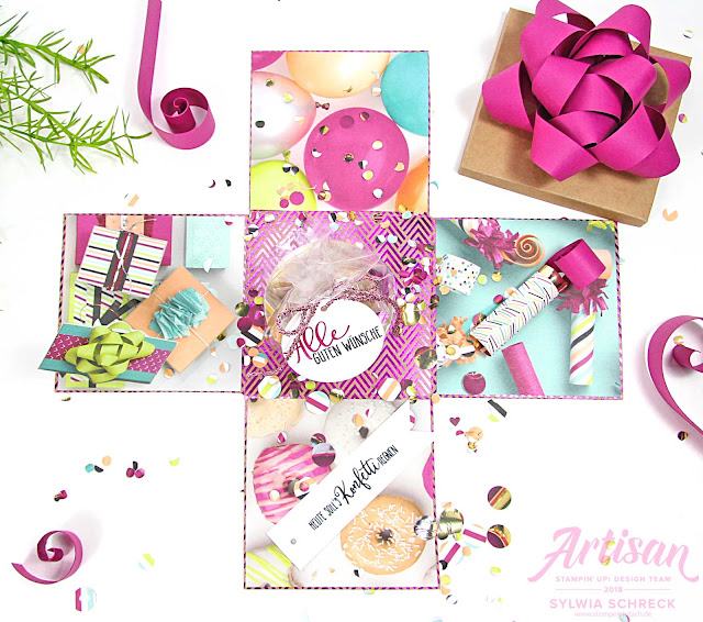 Explosionsbox-Stampin up-Perfekte Party-Geburtstag