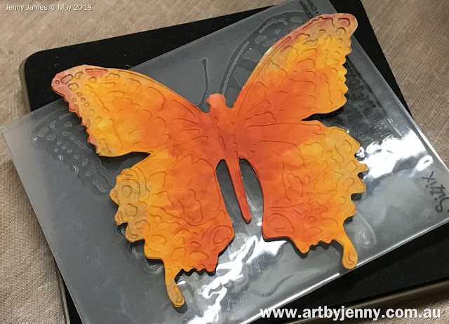 making butterflies with Tim Holtz and Sizzix Bigs templates
