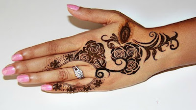 Very simple Mehndi designs for fingers