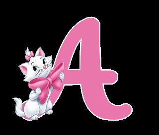 Abecedario de la Pequeña Marie de los Aristogatos. Marie Alphabet.