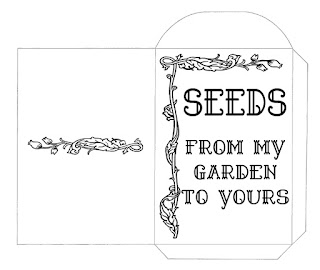 Color your own seed packet for seed sharing... a freebie download!