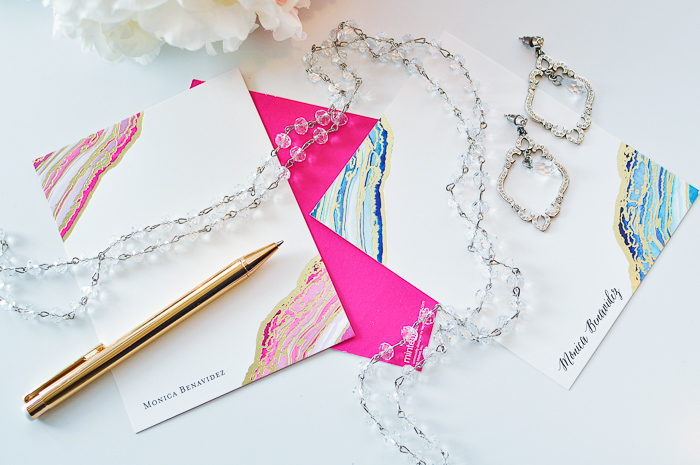 A review about Minted's foil-pressed personalized stationery.