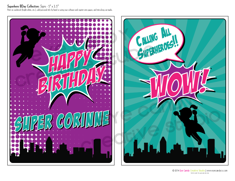 calling all superheroes, superhero party, superhero birthday collection