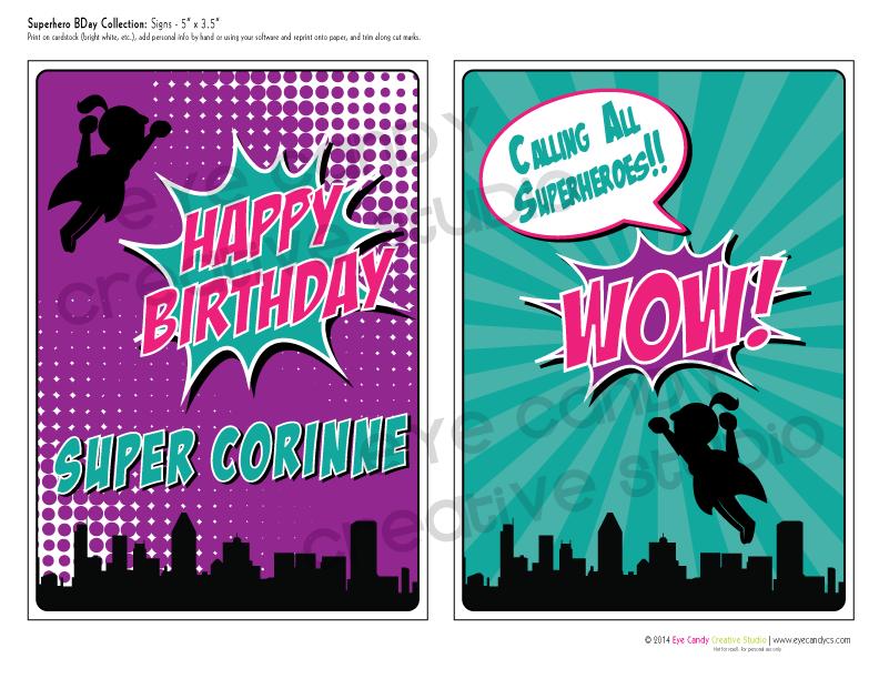 calling all superheroes, superhero party, superhero birthday collection