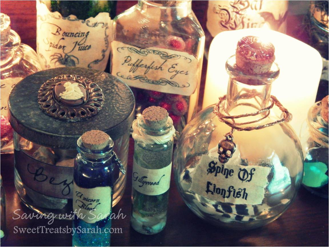 Sweet Treats By Sarah Harry Potter Potion Bottles Diy