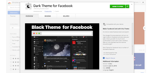 Install Dark Theme for Facebook
