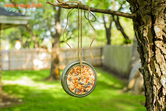 Mason Jar Bird Feeder