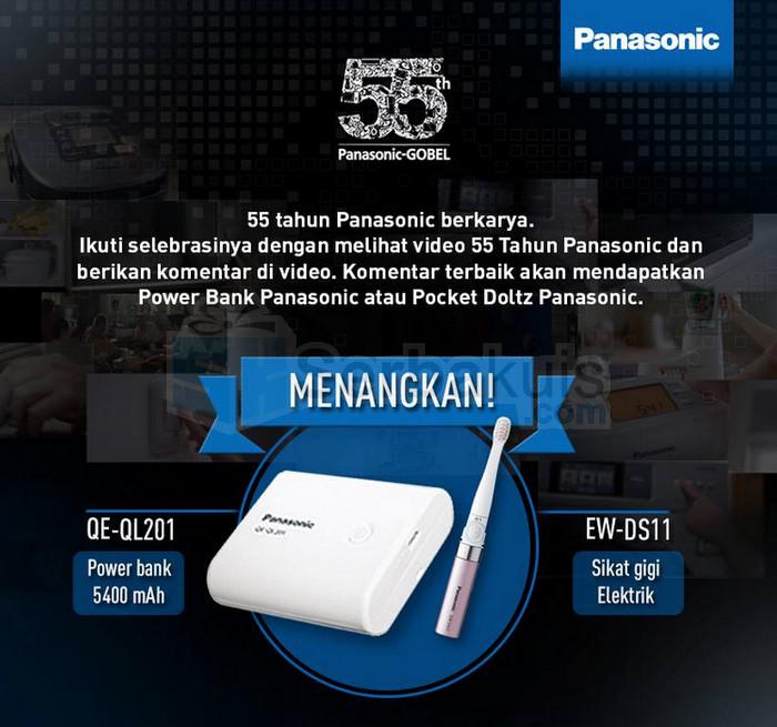 Kuis 55 Tahun Panasonic Berhadiah Powerbank & Pocket Doltz