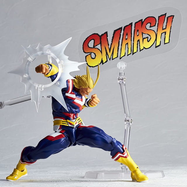 Figuras: Alucinante Revoltech de All Might de My Hero Academia - Kaiyodo
