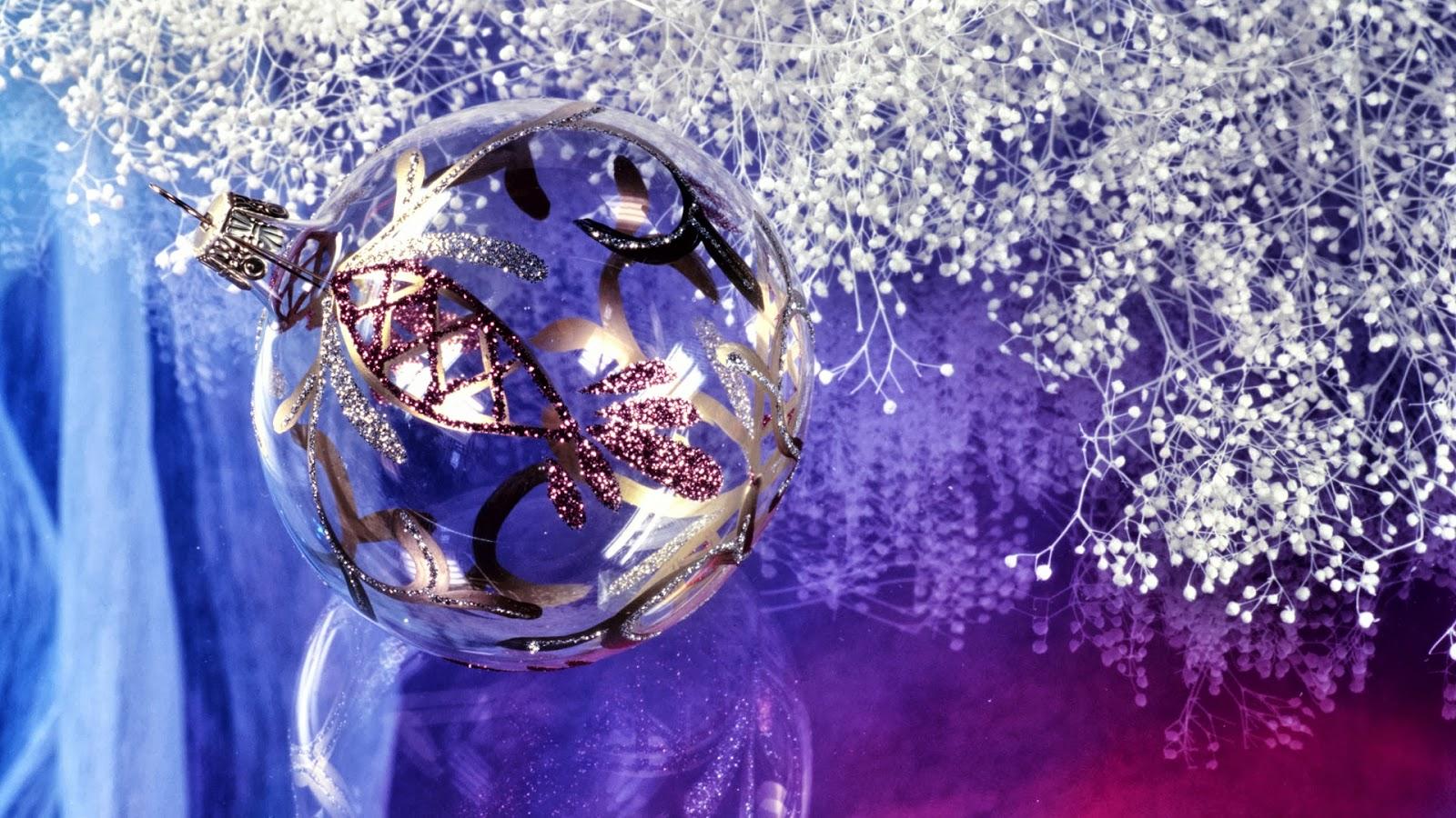 Fondos De Pantalla De Navidad: Fondos Hd: Fondo De Pantalla Navidad Bola Plateada