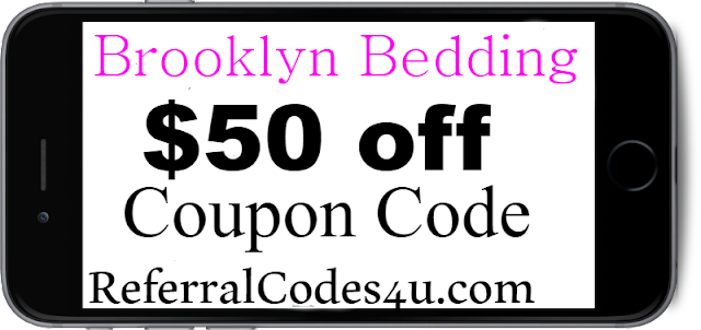 $50 off Brooklyn Bedding Discount Code Coupon 2021 January, February, March, April, May, June