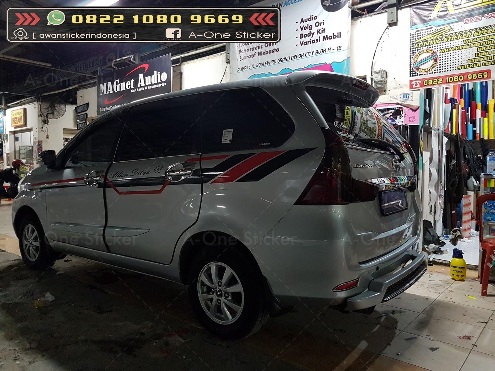 cutting sticker grand new avanza agya trd 2018 mobil modifikasi depok jakarta