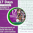1 October 2015 - Start of 17 Days of Activism for the Empowerment of Rural Women and their communities 1-17 Oct.