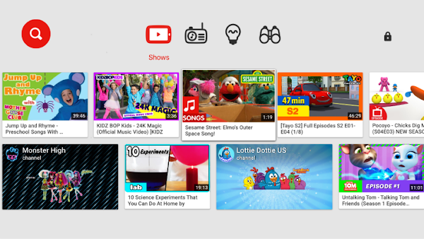 YouTube Kids TV app is now available for Android TV: Android TV apps
