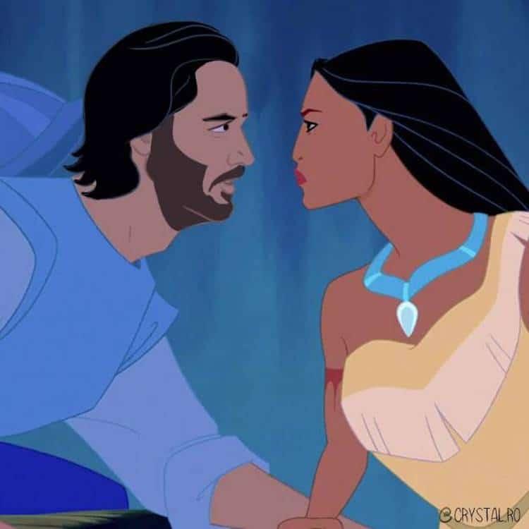 Artist Reimagines Keanu Reeves As Every Charming Disney Prince