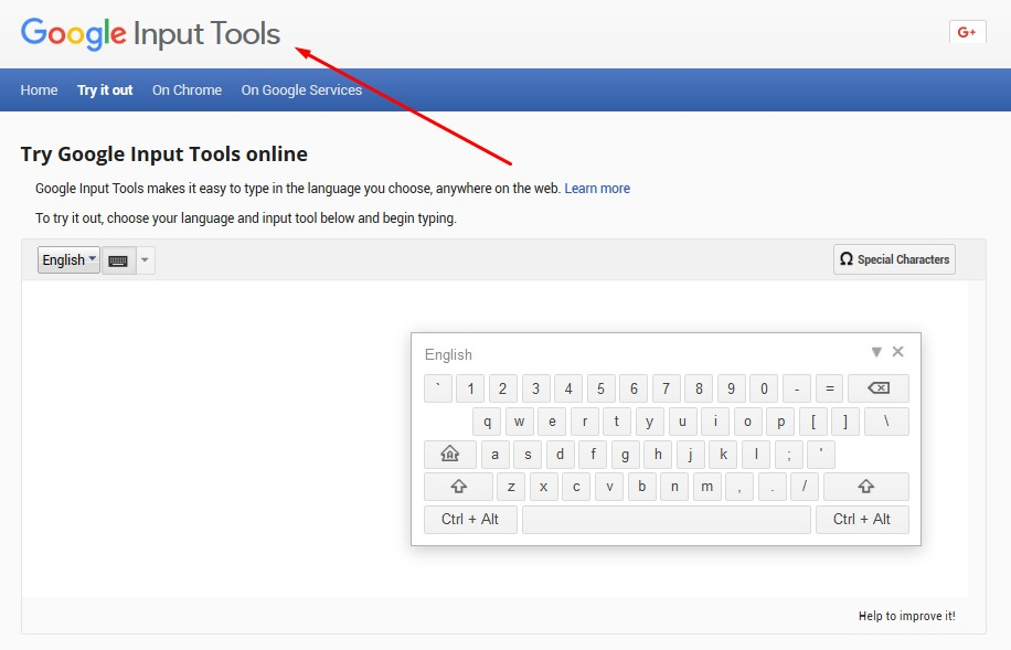 Google Input Tools | Write Online in Any Language