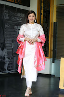 Mannara Chopra in Silky White Salwar Suit with Pink Chunni Latest Exclusive Pics March 2017 ~  039.JPG