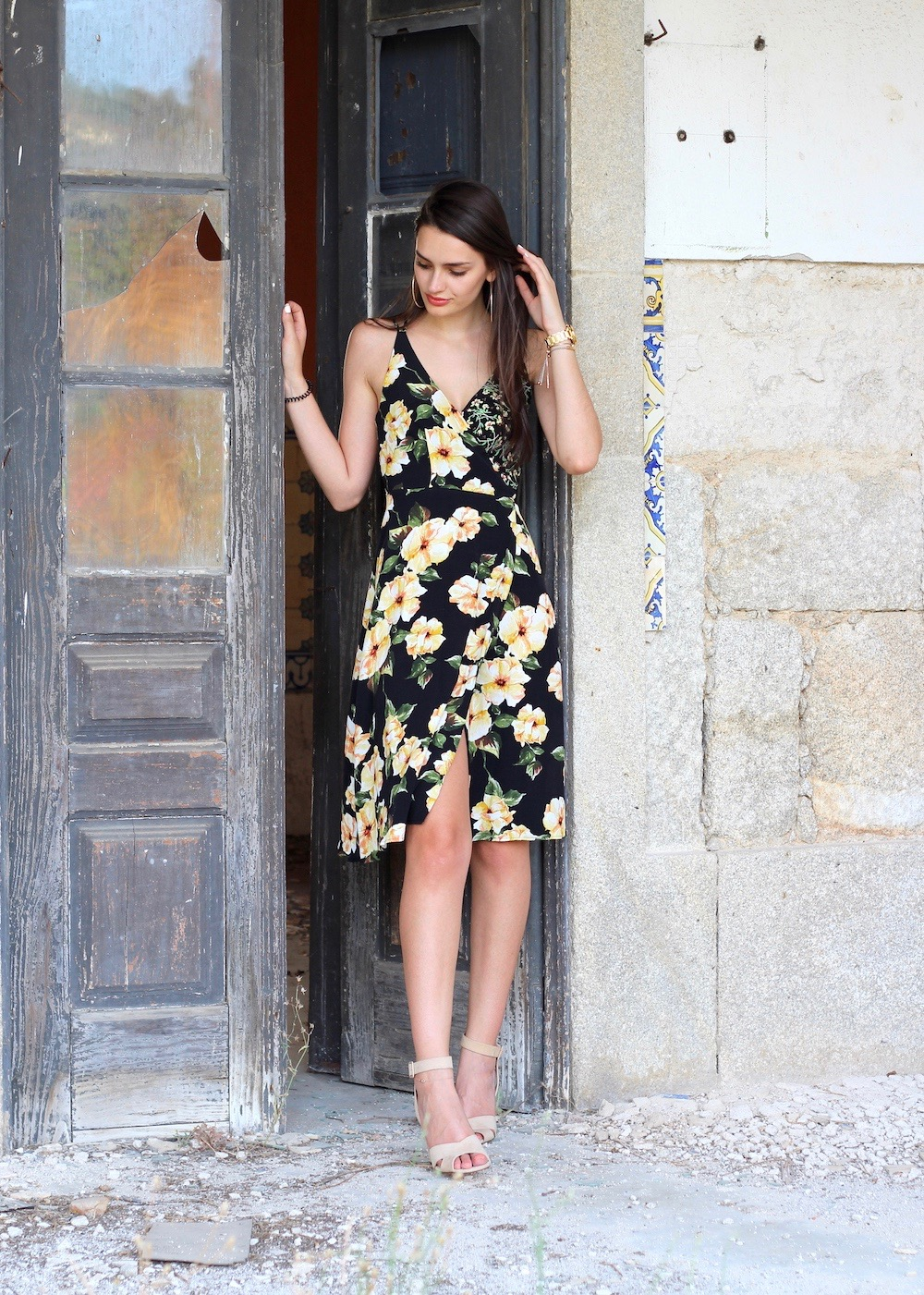 peexo fashion blogger topshop floral midi dress
