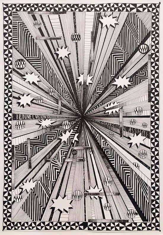 drawing Koen Taselaar Tunnelvision, Indecision, 2016