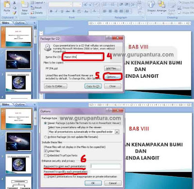 cara proteksi powerpoint dengan package for cd 2