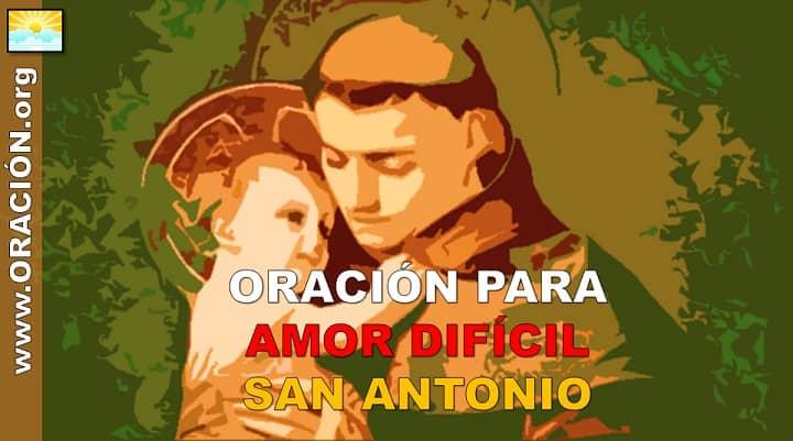 Oración para un Amor Difícil a Santo San Antonio Milagroso