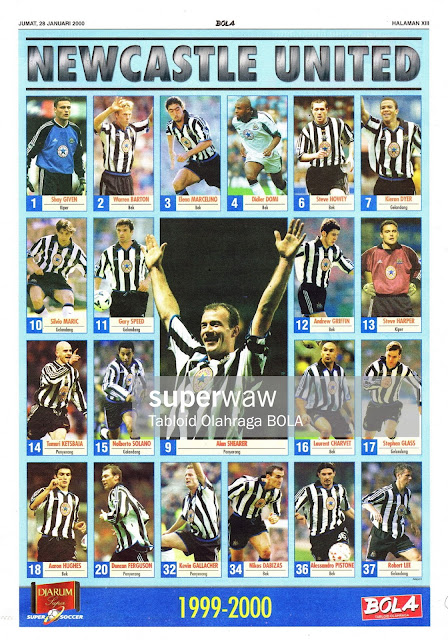 SQUAD NEWCASTLE UNITED 1999-2000