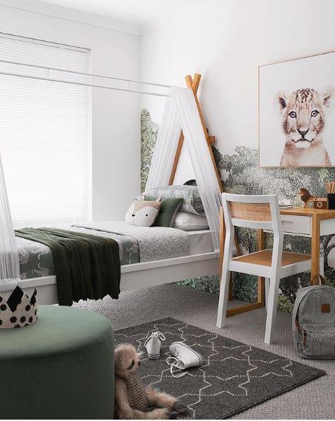 teepee beds in kids' rooms