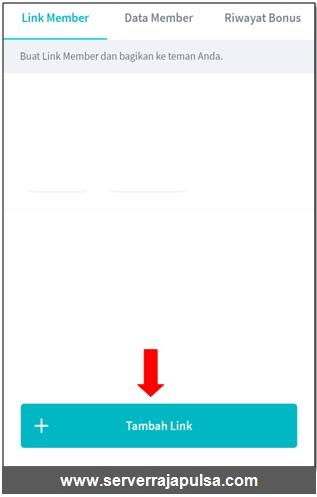 tambahkan link kode referral di aplikasi android raja mobile topup