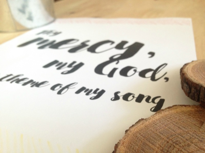 photograph relating to Printable Hymns identified as Thy Mercy + Absolutely free Hymn Lyrics Printable A Hopeful Hood