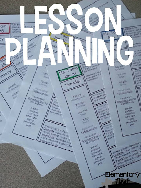 Lesson Plan tips, template, and paper organization- getting ready for the upcoming week