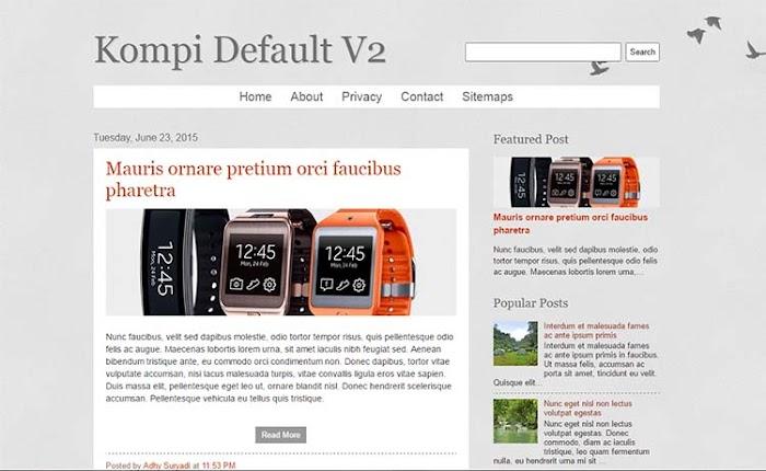 Kompi default update blogger template responsive