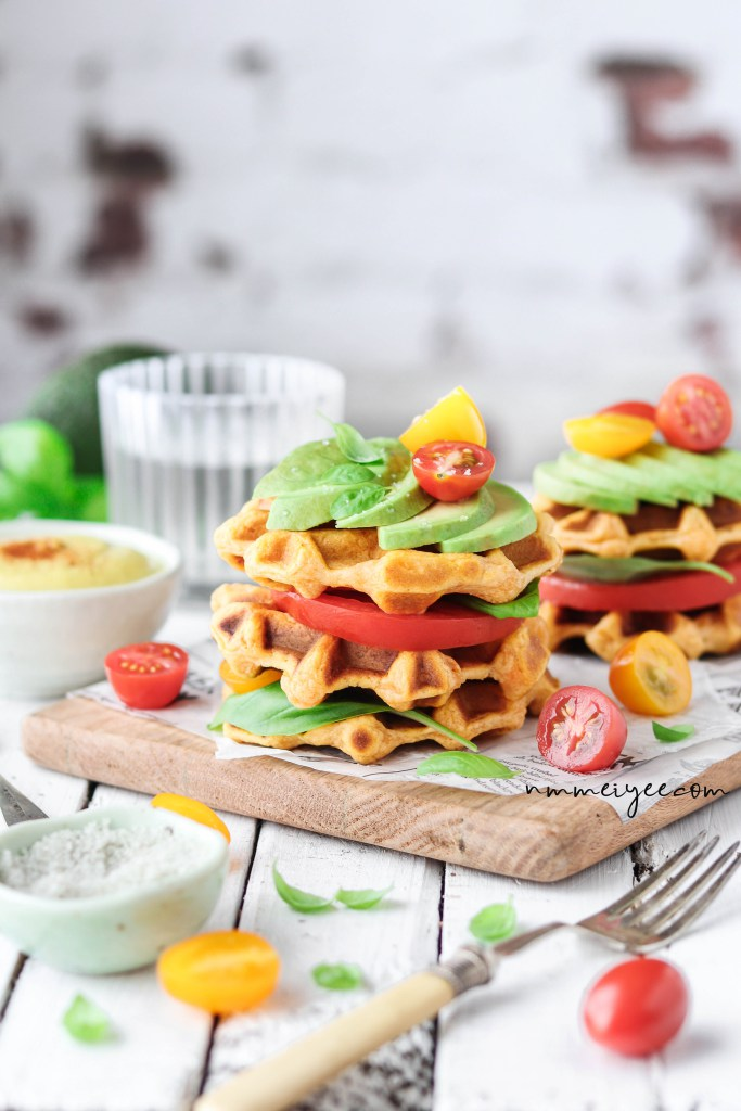 Sweet Potato Waffles with Vegan Hollandaise Sauce. Need more recipes? Find 20 Quick Vegan Lunch Recipes Perfect for Easy Meal Prep lunch ideas vegan | vegan lunch easy | vegan lunchables | healthy vegan lunches | vegan lunch ideas healthy #veganlunchideas #veganlunches #vegan #healthyfood