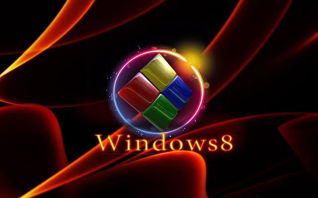 Zwarte oranje Windows 8 achtergrond