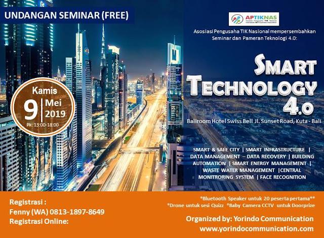 Kegiatan Seminar APTIKNAS Smart Technology 4.0 di Denpasar 9 Mei 2019