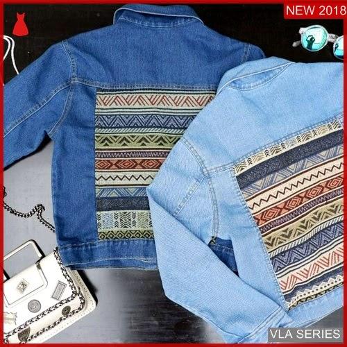 VLA084S215 Model Jaket Songket Jeans Murah BMGShop