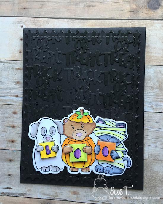 Trick or Treat by Sue features Halloween Trio and Framework by Newton's Nook Designs; #newtonsnook