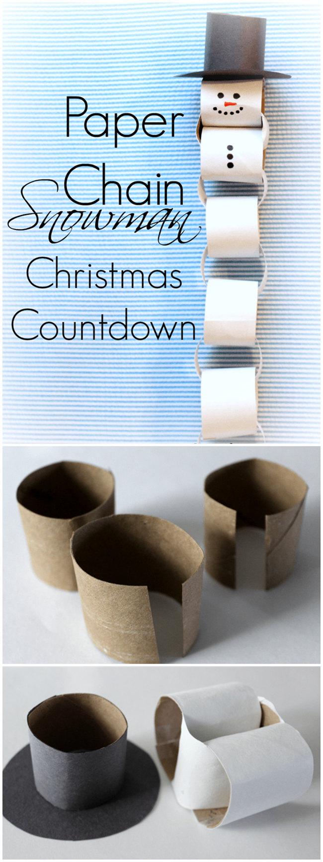 Paper Chain Snowman Christmas Countdown